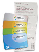 Die AMPpay-Cards